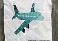 airplane 12 inch paper piece quilt block pattern Stylish Airplane Quilt Block Pattern