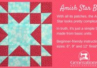 amish star quilt block 6 9 and 12 finished Cool Amish Quilt Patterns Beginners