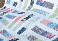 an easy quilt from jelly roll strips quilting digest Interesting Quilt Patterns For Jelly Roll Strips