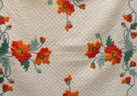 antique poppy applique quilt ive been looking for one of Cool Vintage Poppy Quilt Pattern