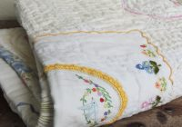 art quilt vintage linen doily hand quilted hand stitched lap Interesting Vintage Doily Quilt Gallery