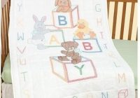 ba blocks crib quilt top stamped cross stitch kit Interesting Jack Dempsey Needle Art Baby Quilts