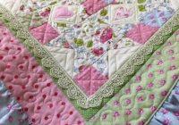 ba girl quilt new vintage look quilt cottage chic quilt Vintage Look Quilts