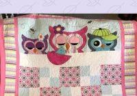 ba girl quilt pattern cute beginner owl quilting gift Cool Beginner Applique Quilt Patterns