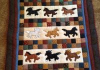 ba quilt for draft horse enthusiast horse quilt cowboy Modern Horse Baby Quilt Pattern Gallery