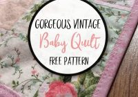 ba quilts simple squares vintage ba quilt whats nana Modern Vintage Baby Quilts Inspirations