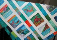 bali hai cool watercolors organic cotton sateen fabric quilt square tropical kauai hawaii New Bali Fabrics Quilting