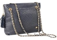 bally quilted chain link with tassel blue leather shoulder bag 71 off retail Modern Vintage Bally Quilted Bag