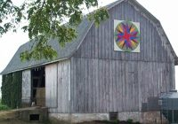 barn quilts in rural america wanderwisdom Unique Painted Quilts On Amish Barns Gallery