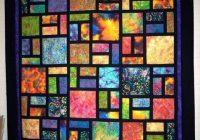 batik stained glass quilt quilting land quilt Interesting Stained Glass Quilt Patterns Inspirations