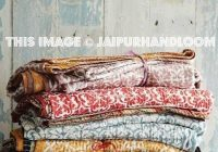 Beautiful 3 pc wholesale indian kantha quilts vintage quilt reversible 11 Cool Vintage Quilt Bedding Inspirations