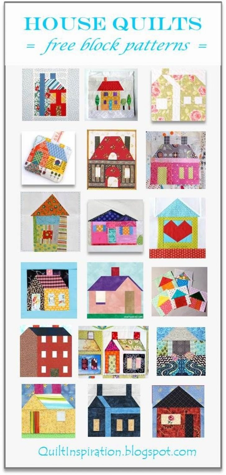 Permalink to 9 Unique House Quilt Block Patterns