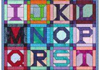 Beautiful alphabet 26 letter set paper piece foundation quilting block 11 Interesting Alphabet Quilt Block Patterns Gallery