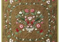 Beautiful antique flower garden wool applique quilt pattern Cool Antique Applique Quilt Patterns