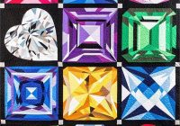 Beautiful birthstones jewel box quilt gemstone quilt mj kinman at 10 Cool Sparkling Genstones Quilt Pattern