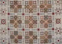 Beautiful civil war quilt reproduction churn dash and nine patch 10 Beautiful Vintage Churn Dash Quilt Pattern Inspirations