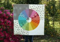 Beautiful color wheel quilt kit pattern stitched in color Color Wheel Quilt Pattern