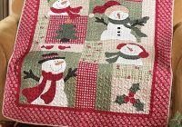 Beautiful country snowman quilted patchwork throw from collections etc 11 Stylish Snowman Quilt Pictures