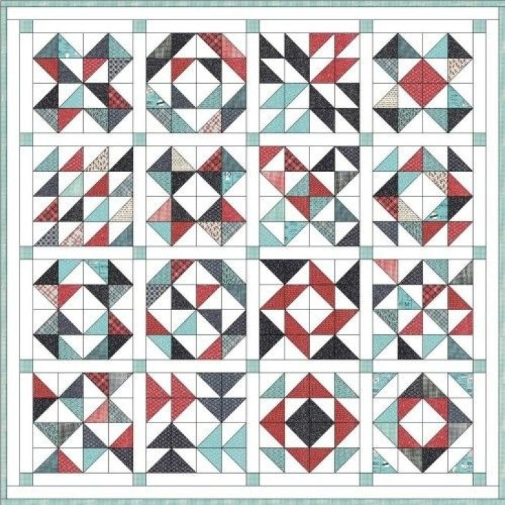 Permalink to 9 Stylish Half Square Triangle Quilt Layouts Gallery