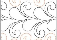 Beautiful flirty feathers and curls quilting pantograph pattern jessica schick 11 Stylish Pantograph Patterns For Longarm Quilting Gallery