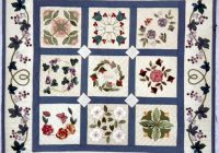 Beautiful floral contemporary fabric wall art baltimore album quilt 11 Cool Baltimore Album Quilt Patterns Inspirations