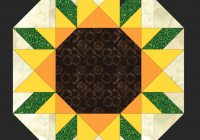 Beautiful free quilt pattern sunflower placemat i sew free 10 Interesting Sunflower Quilt Pattern For Beginners Gallery