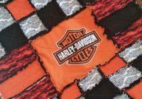 Beautiful harley davidson rag quilt handmade search facebook or etsy 10 Elegant Harley Davidson Quilt Patterns Inspirations