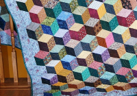 Beautiful how to make tumbling blocks without y seams quilting digest 10 Unique Building Block Quilt Pattern Inspirations