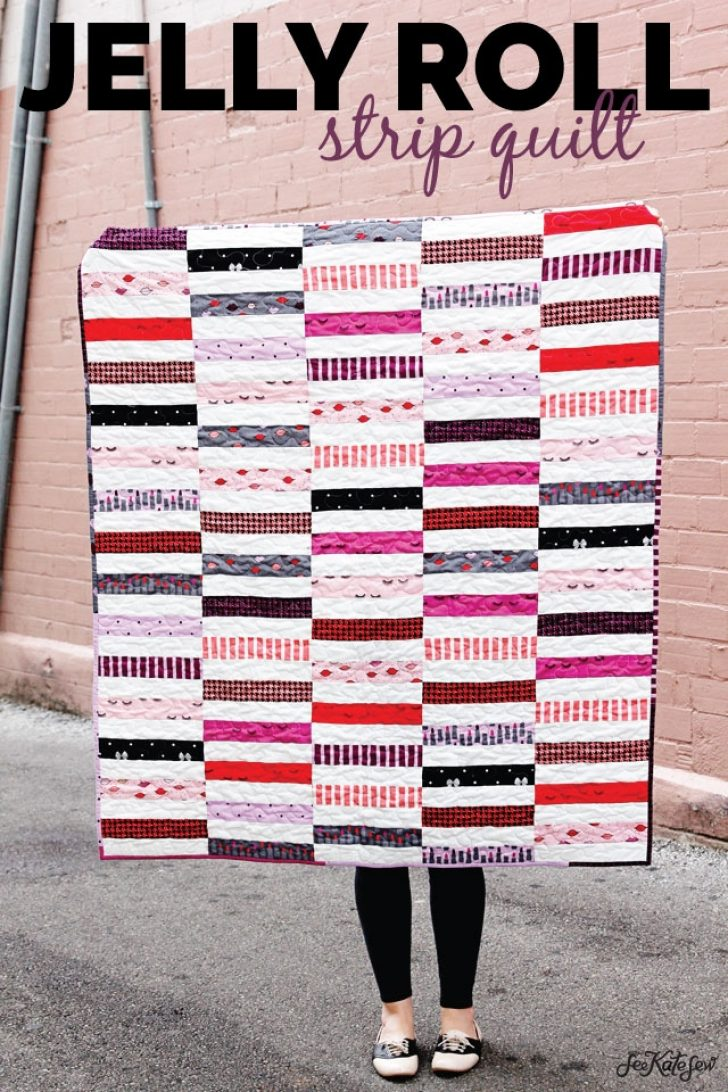 Permalink to 10 Cool Jelly Roll Strip Quilt Pattern