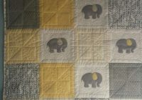 Beautiful just a little ba quilt featuring elephants in gray and 10 Beautiful Quilting Fabric Elephant Print Ideas Gallery