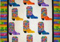 Beautiful lindas quiltmania cowboy boot ba quilt 10 Modern Cowboy Boot Quilt Pattern Inspirations