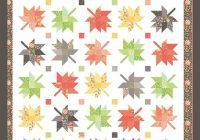 Beautiful maple charm quilt pattern autumn maple leaves quilt pattern fall leaves throw quilt pattern coriander quilts cq132 corey yoder 10 Beautiful Maple Leaf Quilt Patterns Inspirations