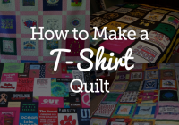 Beautiful quick and easy t shirt quilt tutorial national quilters circle 10 Interesting Patterns For TShirt Quilts Gallery