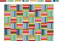 Beautiful rainbow rail fence free quilt pattern 10 Cool Fence Rail Quilt Patterns Gallery