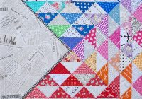 Beautiful red pepper quilts a rainbow half square triangle quilt 10 Beautiful Half Triangle Quilt Inspirations