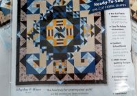 Beautiful rhythm blues 12 blocks complete w setting kit joann 10   Stylish Baby Quilt Kits Joann Fabrics Inspirations