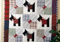 Beautiful scottie dogs quilting epattern 9 Beautiful Scottie Dog Quilt Pattern Gallery