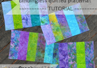 Beautiful sew fresh quilts bindingless quilted placemats a tutorial Modern Pattern For Quilted Placemats Gallery