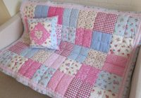 Beautiful shab chic patchwork cotbed quilt annelisequilts on 11 Stylish Cot Patchwork Quilt Patterns