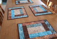 Beautiful snow dyeing day 2 quilted placemat patterns placemats 11 Cool Quilt Patterns For Placemats Inspirations