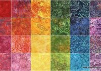 Beautiful sumatra batiks ii 25 strips blank quilting blank 11 New Blank Quilting Fabric Inspirations