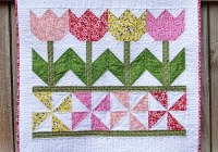 Beautiful tulip time quilt is a breeze to make quilting digest 9   Tulip Quilt Block Pattern Inspirations
