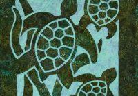 Beautiful turtle beach 2 fabric applique quilt pattern hawaiian 10   Hawaiian Sea Turtle Quilt Patterns