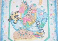 Beautiful two two noahs ark fabric panel cotton baquilt top 11 New Baby Quilt Fabric Panels Gallery