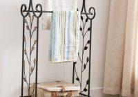 Beautiful vintage quilt rack stand blanket towel bedroom shelf storage display scroll iron Elegant Vintage Quilt Rack