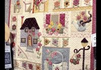 beautiful workparty in the garden quilts applique Unique Pretty Houses Quilt Book Inspirations