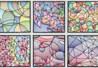 bfc1543 stained glass quilt squares abstract patterns Interesting Stained Glass Quilt Patterns Inspirations