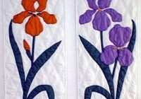 bird and flower applique patterns blue birds 26 x 44 Modern Flower Applique Quilt Patterns Inspirations