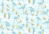 bird fabric half yard beach fabric printed quilting Cool Beach Fabric For Quilting