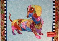 bj designs patterns dagwood the dachshund wiener dog applique quilt pattern Interesting Dog Applique Quilt Patterns Gallery